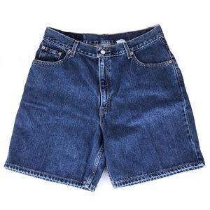 Levi's high rise denim blue jean mom shorts 31